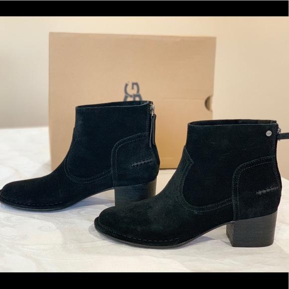 779c2657e27 UGG Bandara Ankle Boot, Black Suede NWT